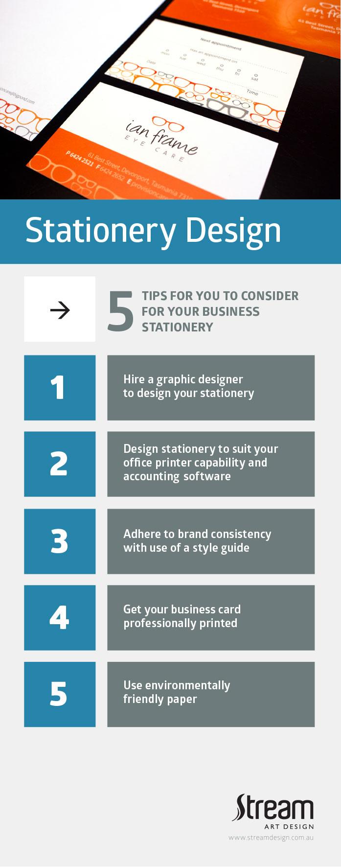stream design stationery tips